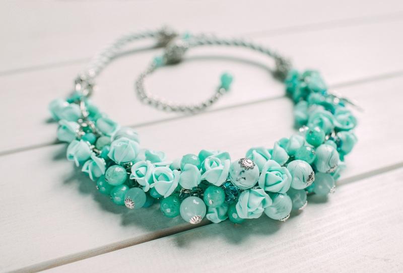 Мятные розы Зеленый Полимерная глина  Fimo, н Панчук Ирина - фото 1