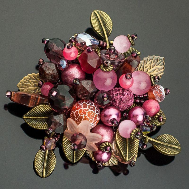 Марсала Разноцветный агат натуральный, гранат Панчук Ирина - фото 1