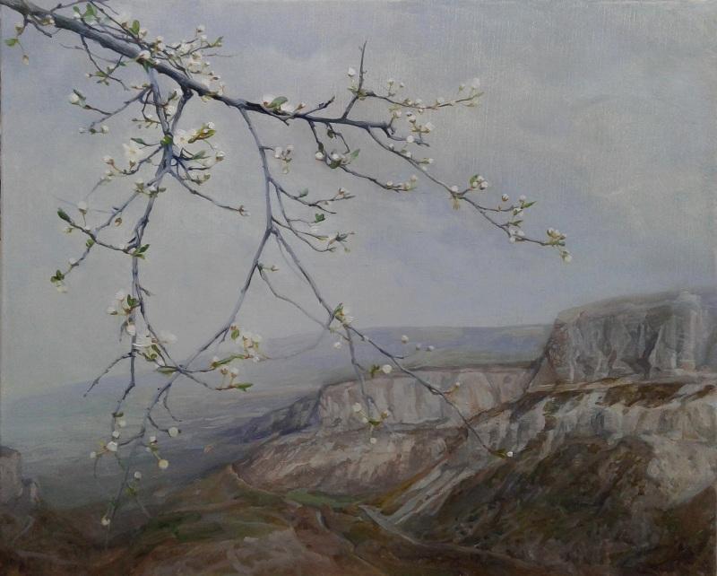 Слива цветет  холст, масло Павленко Гелена - фото 1