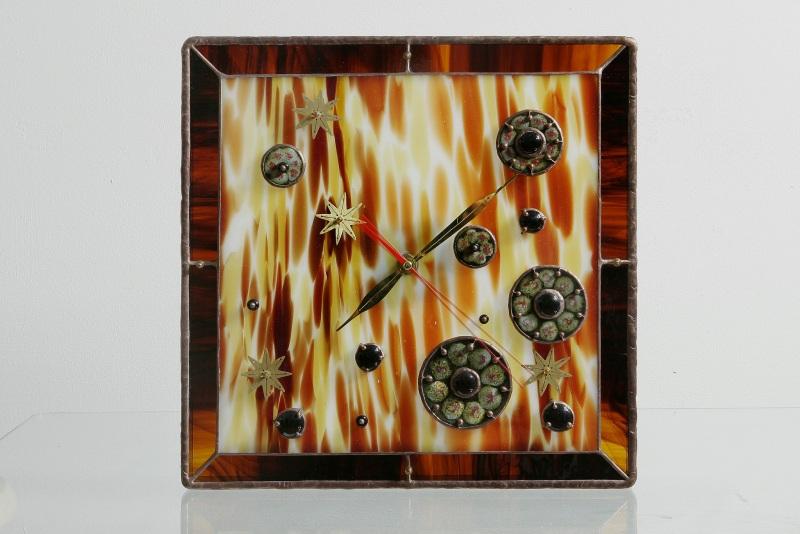 Витражные часы  Витражное стекло, керамик Павлык Роксолана - фото 1
