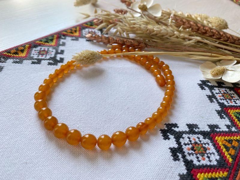 Ожерелье янтарное Оранжевый Янтарь Подгурская Леся - фото 3