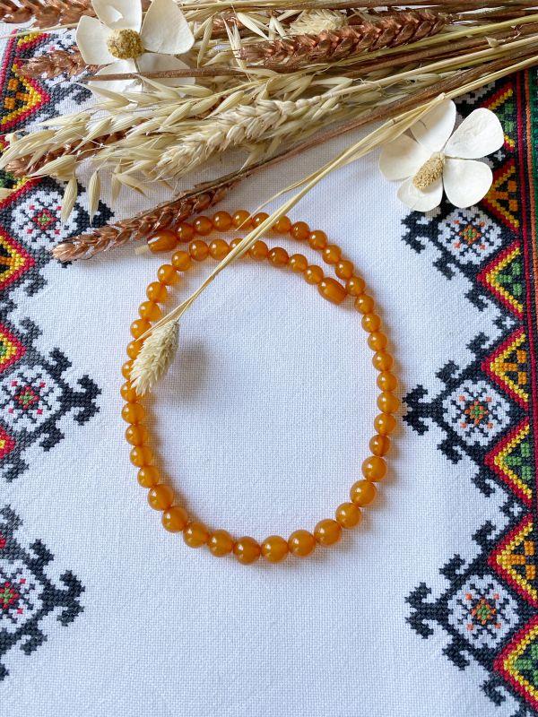 Ожерелье янтарное Оранжевый Янтарь Подгурская Леся - фото 4