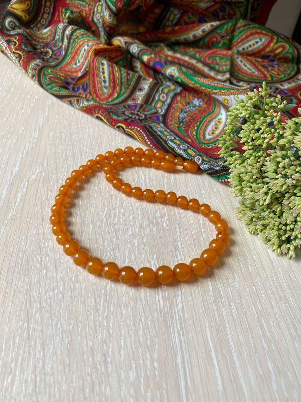 Ожерелье янтарное Оранжевый Янтарь Подгурская Леся - фото 2