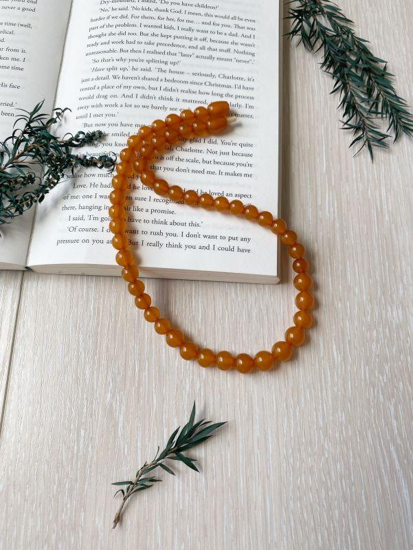 Ожерелье янтарное Оранжевый Янтарь Подгурская Леся - фото 1
