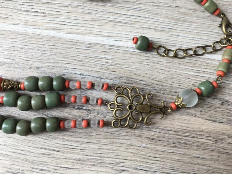 Ожерелье из керамики Разноцветный Керамика ручной работы, с Подгурская Леся - фото 2