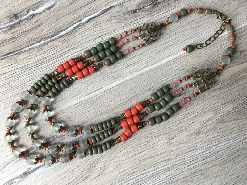 Ожерелье из керамики Разноцветный Керамика ручной работы, с Подгурская Леся - фото 5