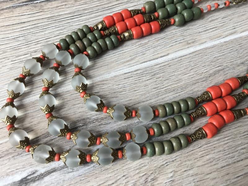 Ожерелье из керамики Разноцветный Керамика ручной работы, с Подгурская Леся - фото 3