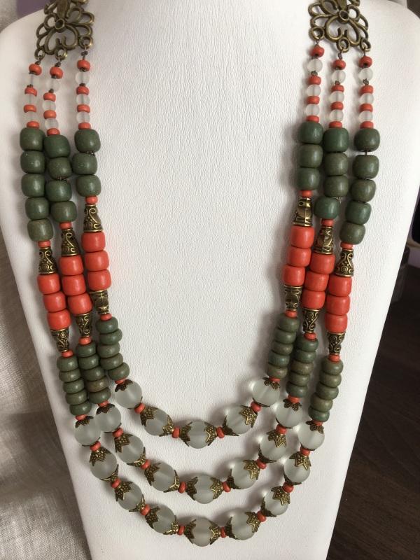 Ожерелье из керамики Разноцветный Керамика ручной работы, с Подгурская Леся - фото 4