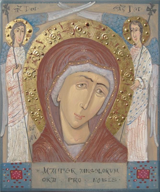 Mater Angelorum  Доска, акрил, сусальное з Помян Сергей - фото 1