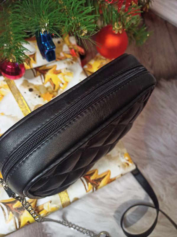 Оригинальная сумочка ручной работы Черный Натуральная кожа Процюк Виктория - фото 4