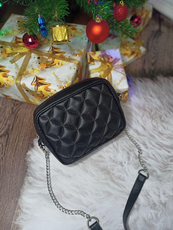 Оригинальная сумочка ручной работы Черный Натуральная кожа Процюк Виктория - фото 2