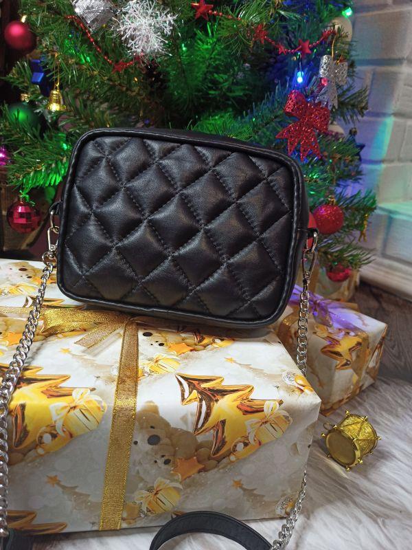 Оригинальная сумочка ручной работы Черный Натуральная кожа Процюк Виктория - фото 3