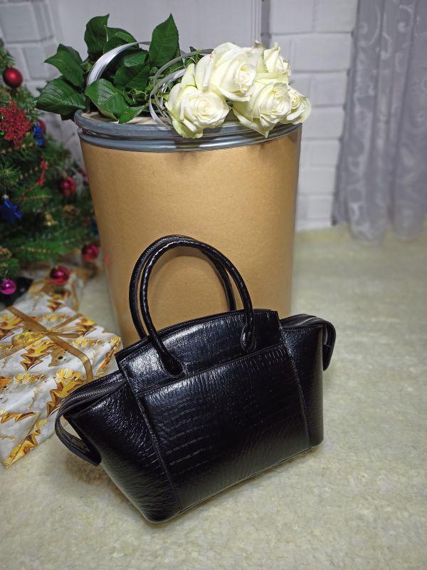 Большая женская сумочка ручной работы Черный Натуральная кожа Процюк Виктория - фото 2