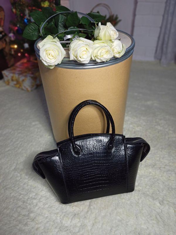 Большая женская сумочка ручной работы Черный Натуральная кожа Процюк Виктория - фото 7