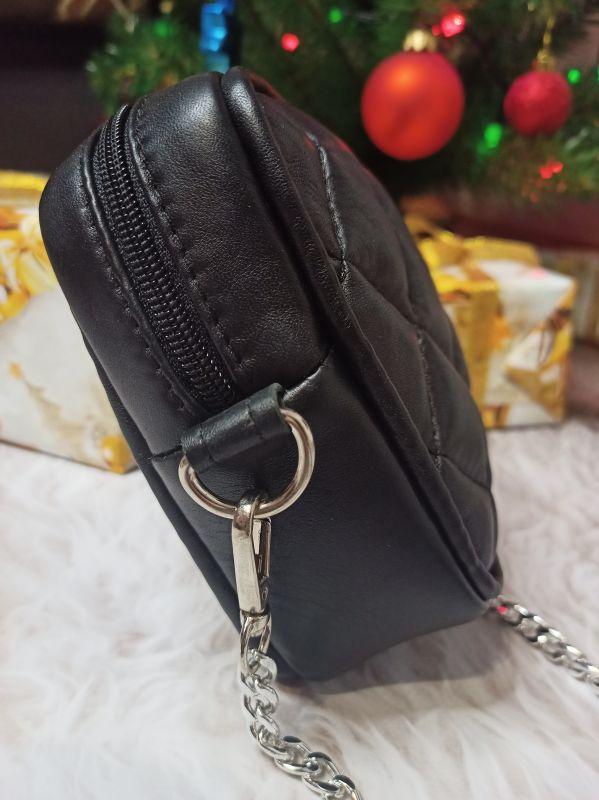 Оригинальная сумочка ручной работы Черный Натуральная кожа Процюк Виктория - фото 6