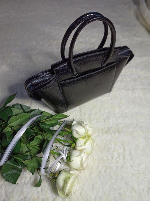 Большая женская сумочка ручной работы Черный Натуральная кожа Процюк Виктория - фото 4