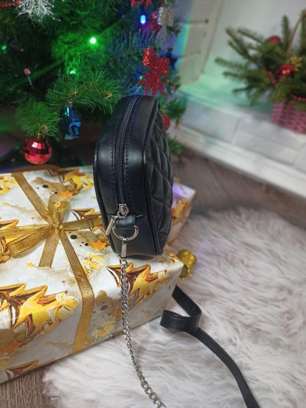 Оригинальная сумочка ручной работы Черный Натуральная кожа Процюк Виктория - фото 5