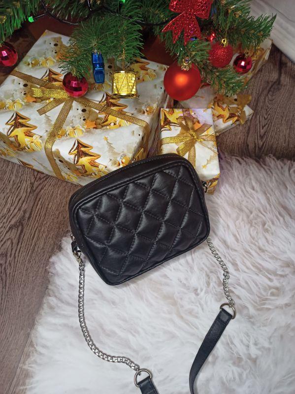 Оригинальная сумочка ручной работы Черный Натуральная кожа Процюк Виктория - фото 1