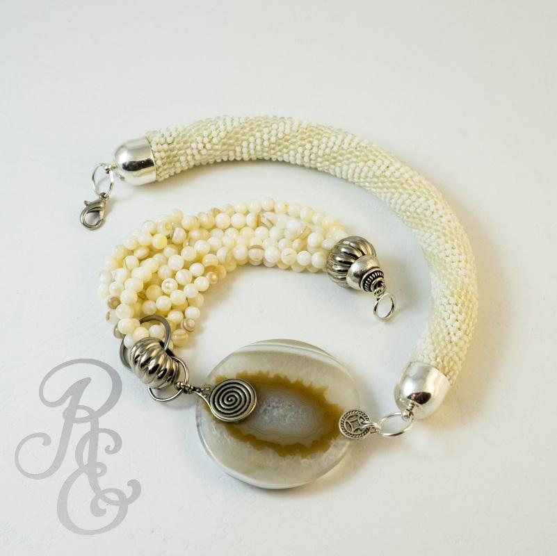 Каприз Белый Агат (подвеска диам. 5 см Расторгуева Елена - фото 2