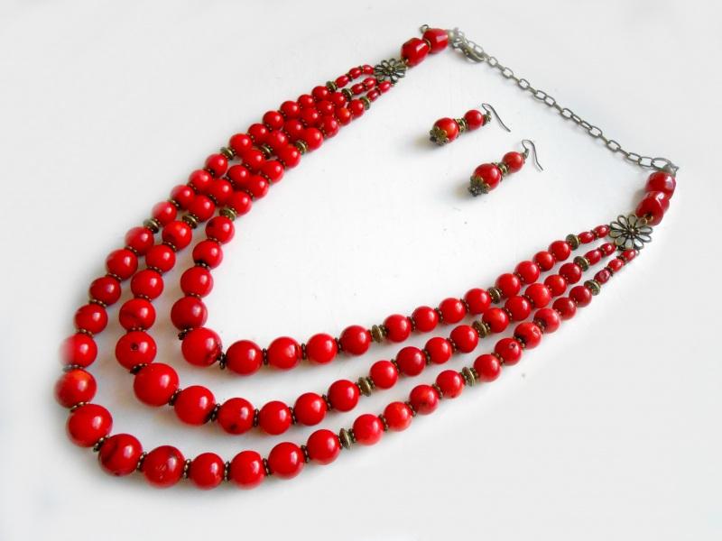 Ожерелье из коралла Красный натуральный коралл Розпутняк Любовь - фото 2