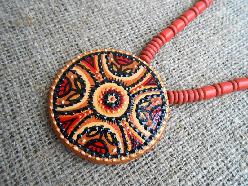Керамический кулон 2 Красный Керамика ручная работа, а Розпутняк Любовь - фото 2