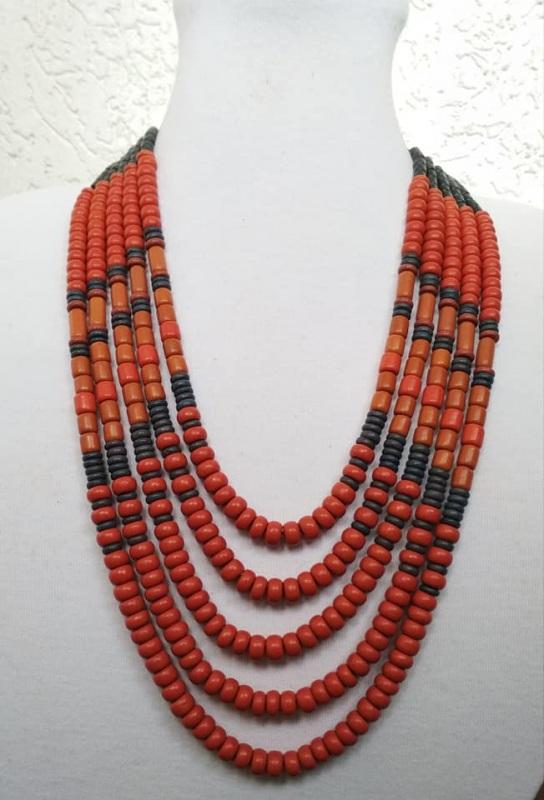 Керамическое ожерелье  Керамика, ручная работа Розпутняк Любовь - фото 1
