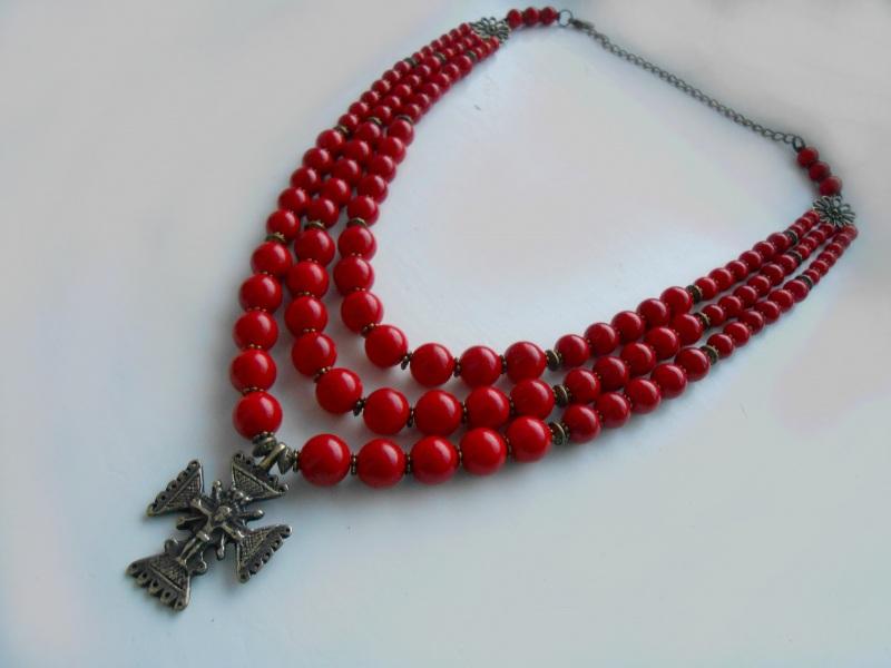 Ожерелье из коралла Красный Натуральный прессованный Розпутняк Любовь - фото 2
