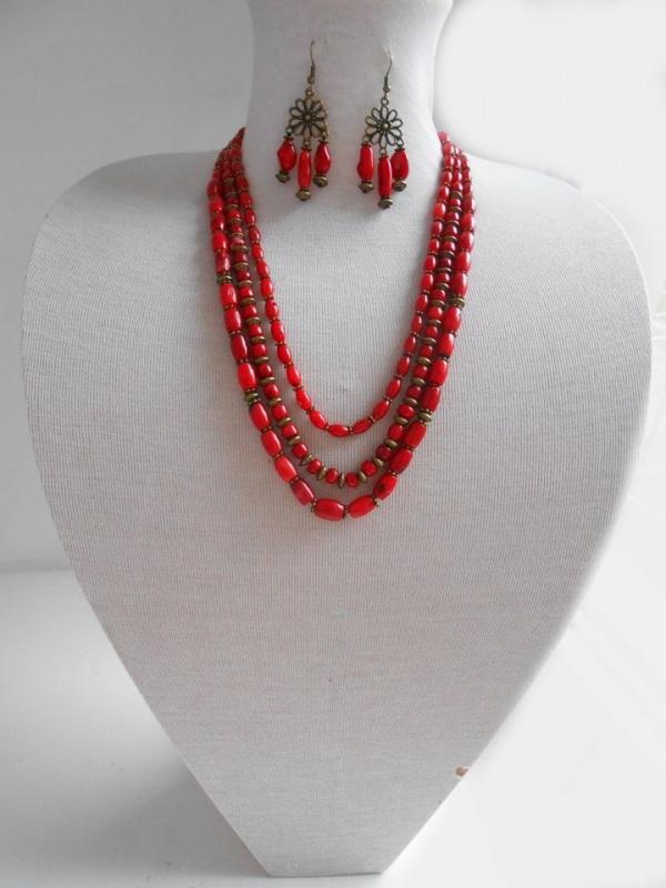 Ожерелье из коралла Красный натуральный коралл Розпутняк Любовь - фото 1