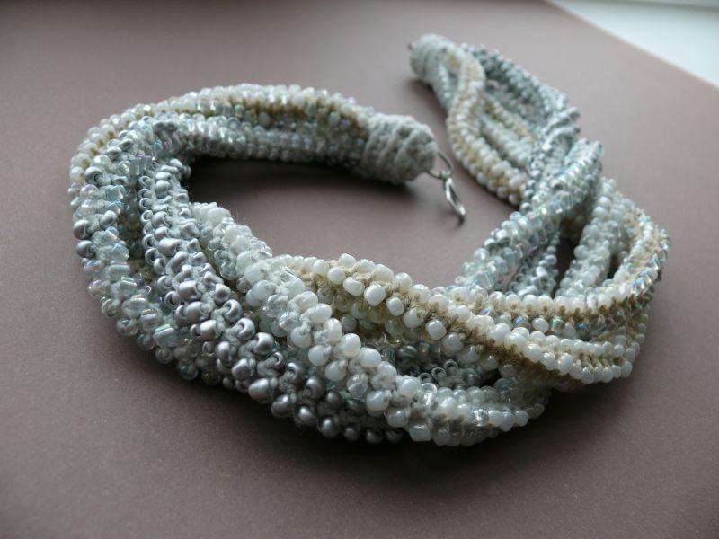 Серебряный иней  бисер, нить, металлическа Рыбий Христина - фото 2