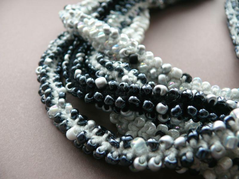 For a little black dress  бисер, нить, металлическа Рыбий Христина - фото 4