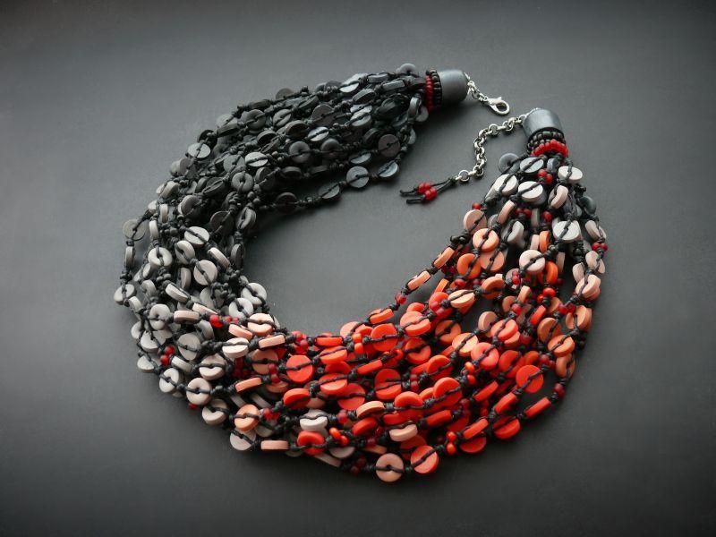 Пламя Разноцветный полимерная глина, вощеный Рыбий Христина - фото 6