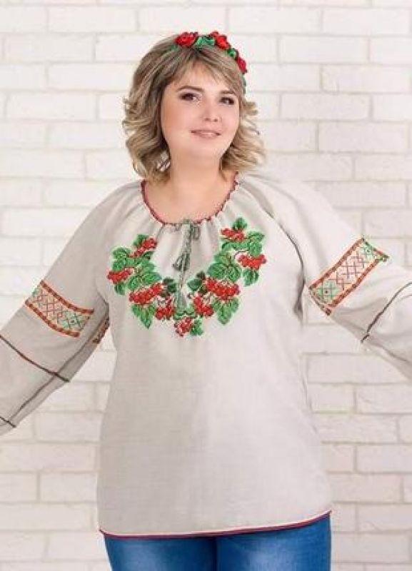Сорочка-вышиванка с вышивкой бисеом Белый бисер, полотно Рябчун Юлія - фото 1