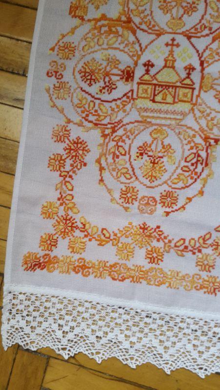 Пасхальная салфетка, рушник  канва, мулине Рябчун Юлія - фото 4