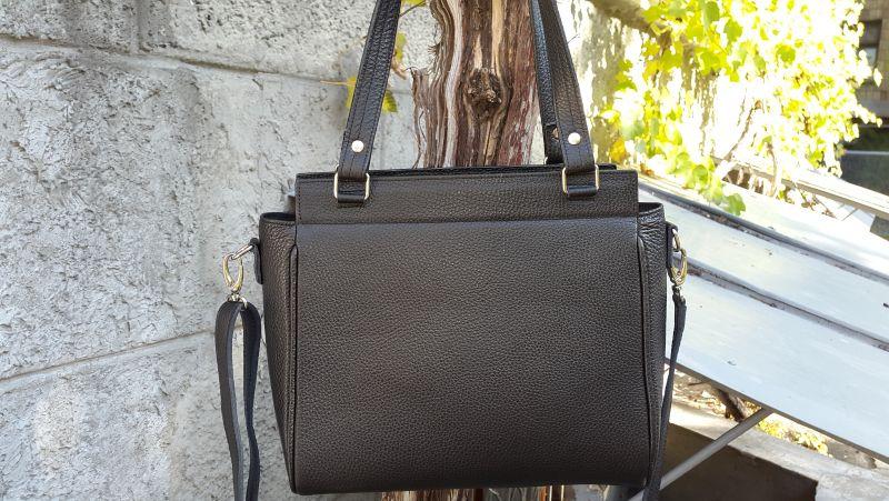 Кожанная сумка с вышивкой Черный кожа, бисер Рябчун Юлія - фото 2