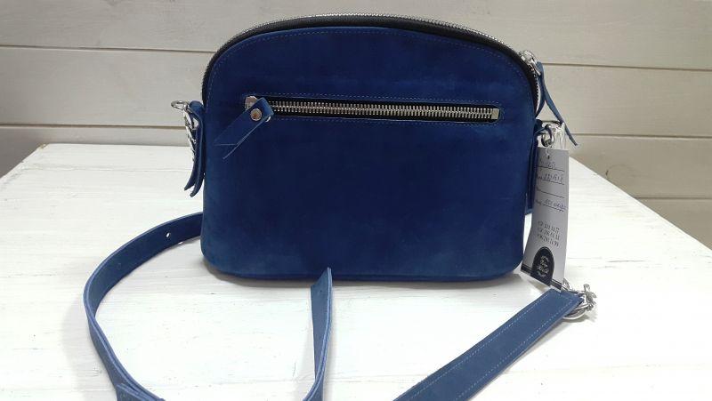 Сумка с вышивкой Синий Кожа, замш Рябчун Юлія - фото 4