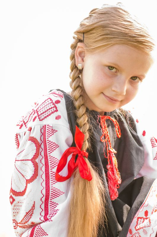 Детская вышиванка Черный 100% хлопок, мулине, крож Рябчун Юлія - фото 7