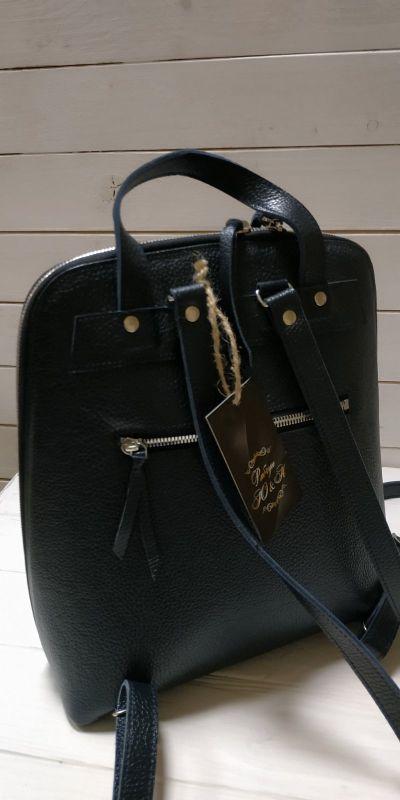 Рюкзак, сумка Черный Кожа, ручная вышивка бисе Рябчун Юлія - фото 3