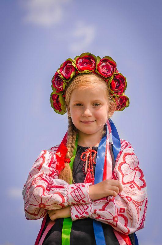 Детская вышиванка Черный 100% хлопок, мулине, крож Рябчун Юлія - фото 4