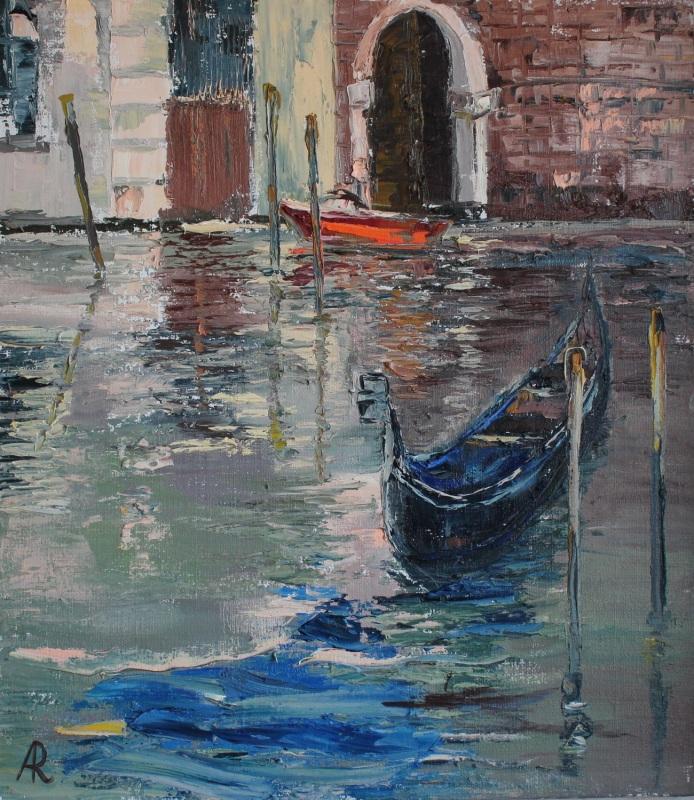 Венеция осенью  холст, масло, дамарный ла Рыбалка Анна - фото 1