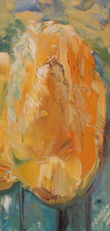 Желтые тюльпаны  холст, масло, лак Рыбалка Анна - фото 2