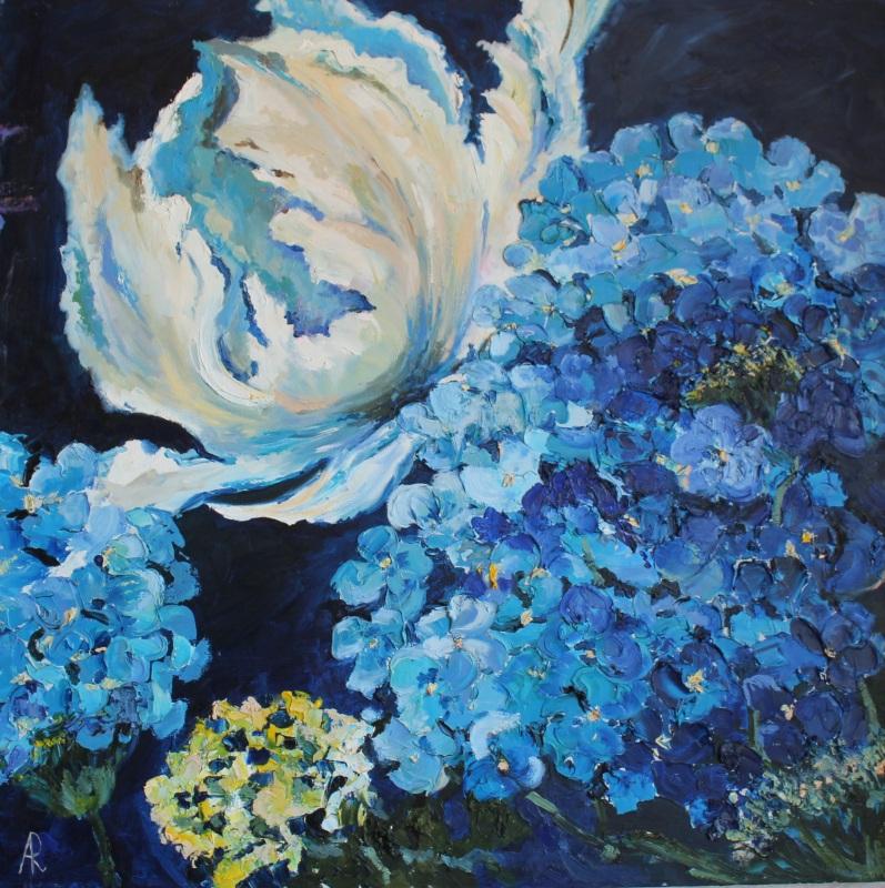 Цветы  холст, масло, лак Рыбалка Анна - фото 1