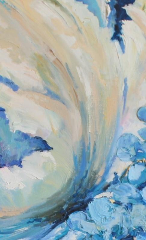 Цветы  холст, масло, лак Рыбалка Анна - фото 3