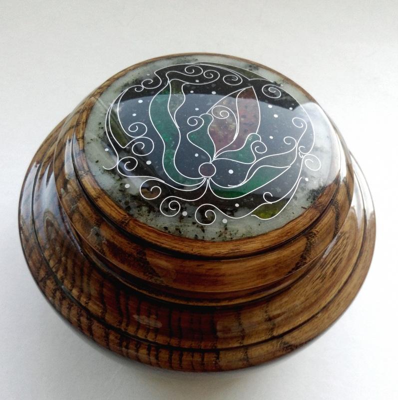 Шкатулка  ясень, мрамор, янтарь, ст Шарапов Александр - фото 8