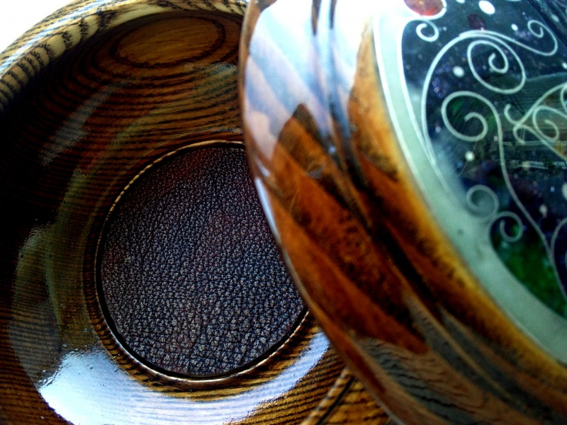 Шкатулка  ясень, мрамор, авантюрин, Шарапов Александр - фото 6
