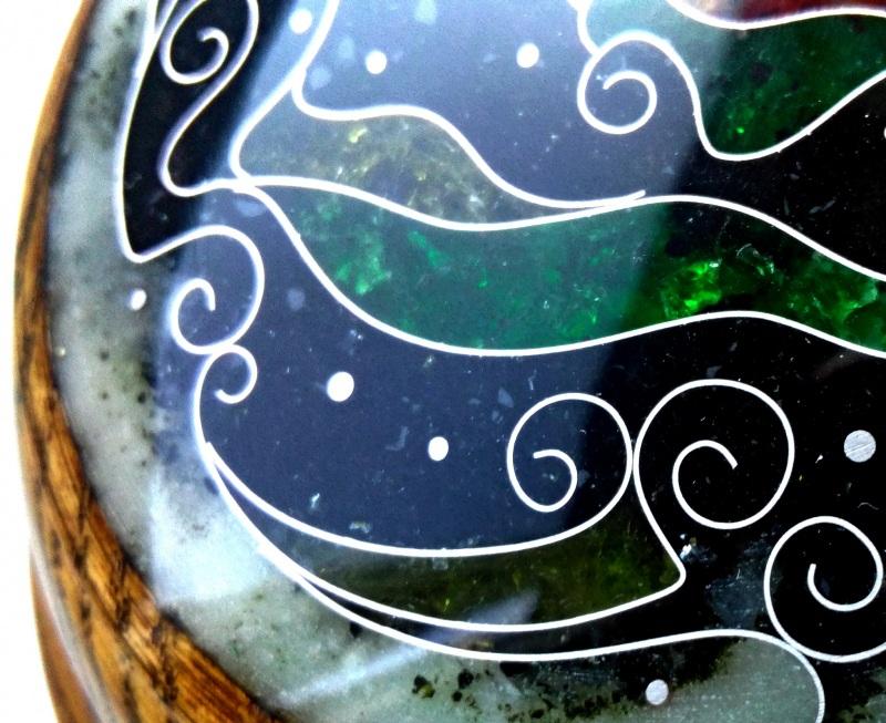 Шкатулка  ясень, мрамор, янтарь, ст Шарапов Александр - фото 6