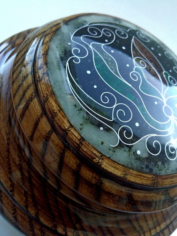 Шкатулка  ясень, мрамор, янтарь, ст Шарапов Александр - фото 5