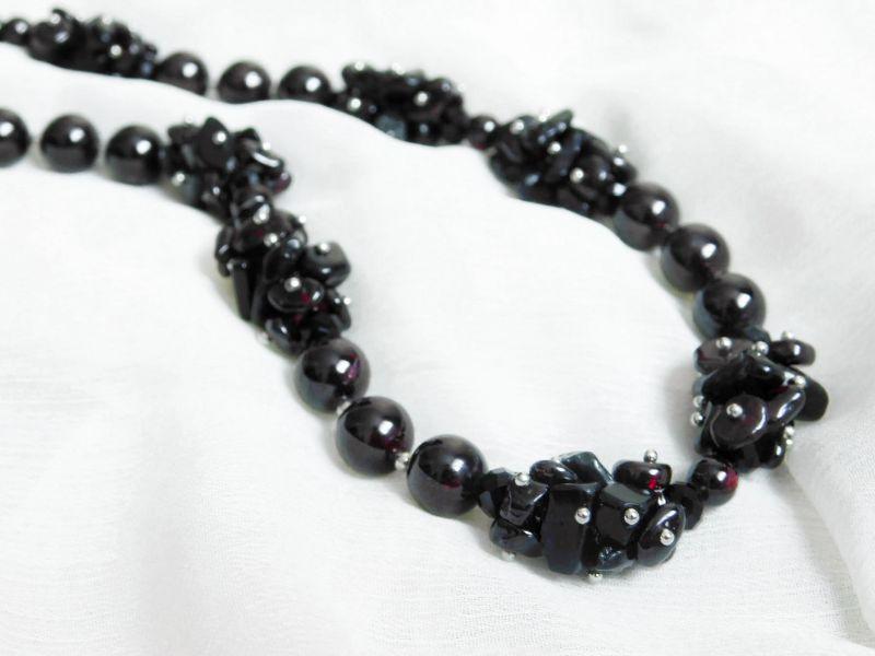 """Эксклюзивное ожерелье """"Блэк"""" Гранатовый Гранат Дизайн-студия """"Fursa fashion"""" - фото 3"""
