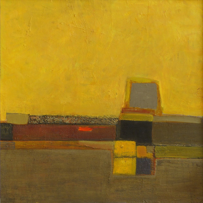 Желтое. Из серии Солнечные дни  картон, масло Шумская Ярина - фото 1
