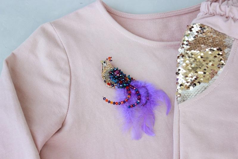Брошь птичка Разноцветный японский бисер, французск Швайковская Оксана - фото 7