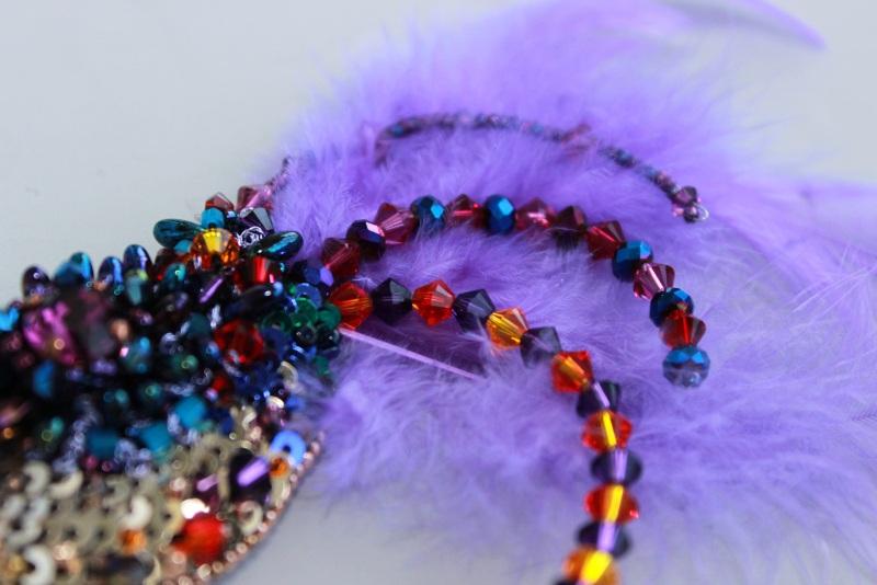 Брошь птичка Разноцветный японский бисер, французск Швайковская Оксана - фото 3